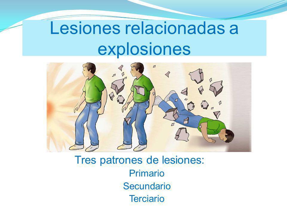 Lesiones relacionadas a explosiones