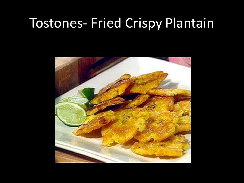 Tostones- Fried Crispy Plantain