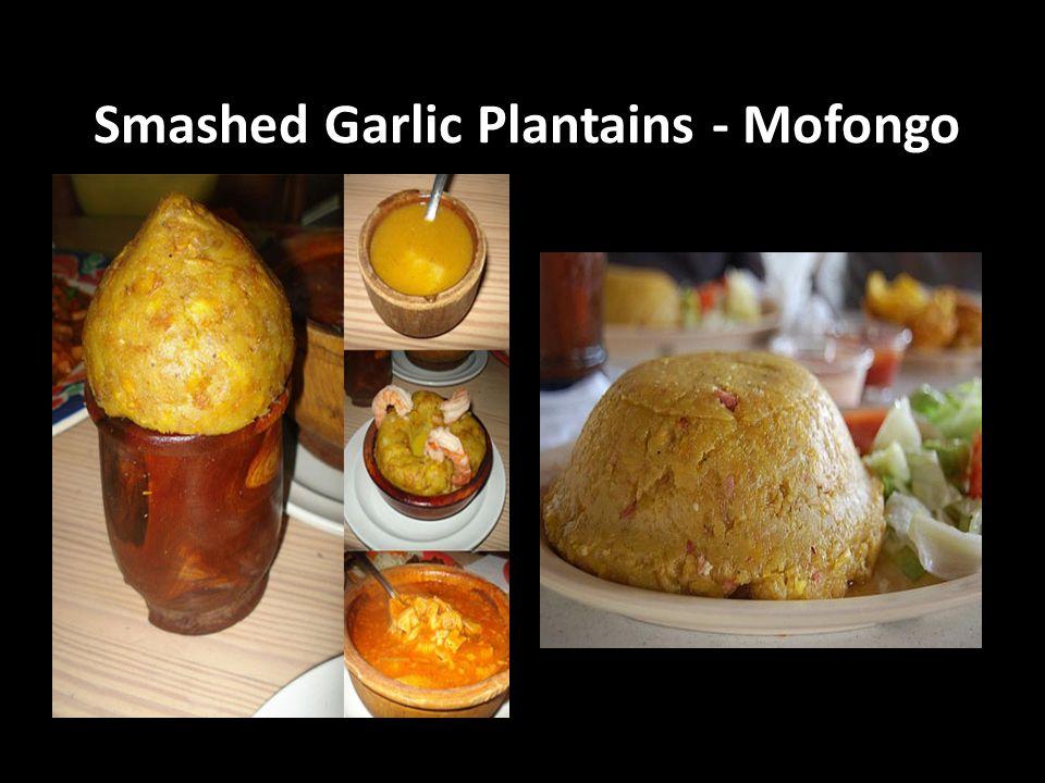 Smashed Garlic Plantains - Mofongo