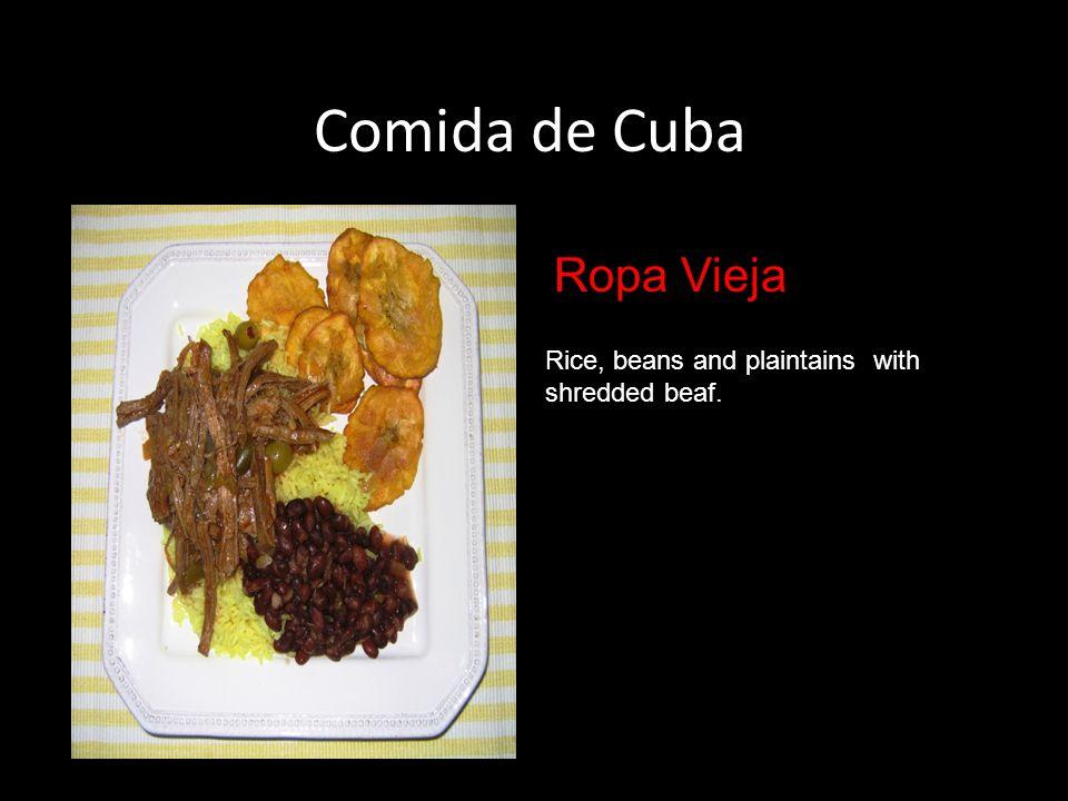Comida de Cuba Ropa Vieja