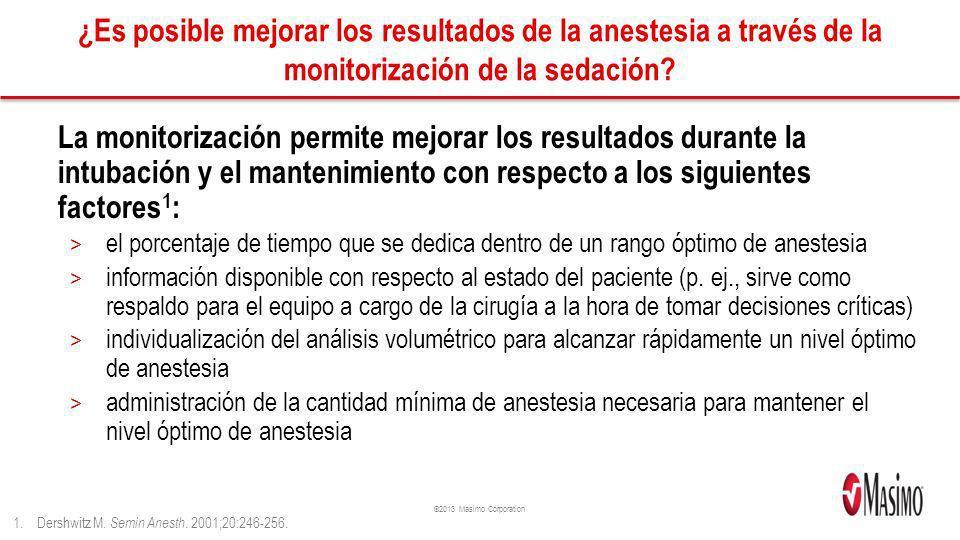 ¿Es posible mejorar los resultados de la anestesia a través de la monitorización de la sedación