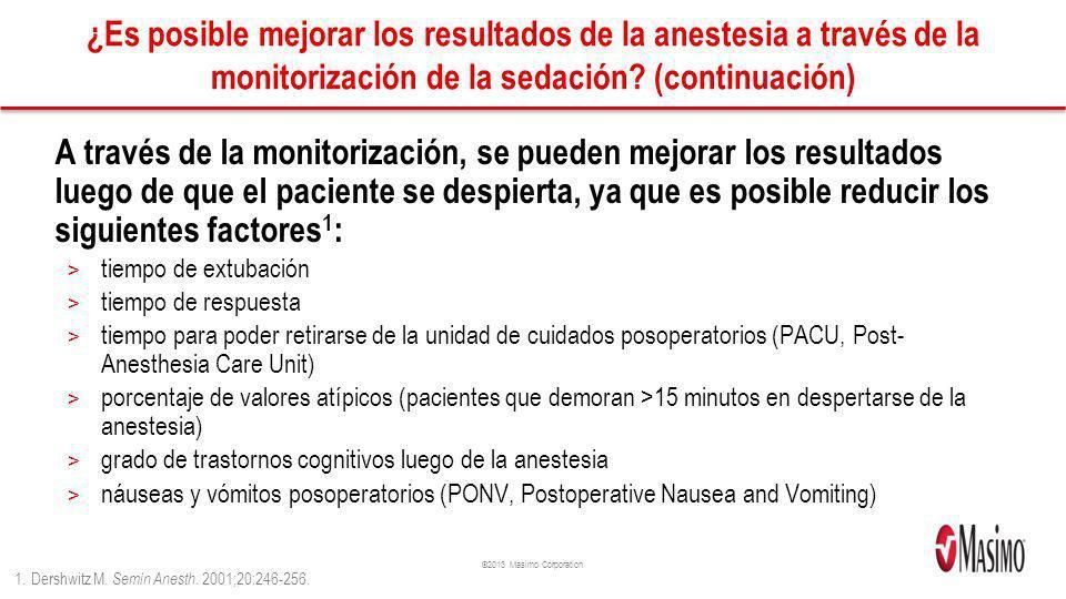¿Es posible mejorar los resultados de la anestesia a través de la monitorización de la sedación (continuación)