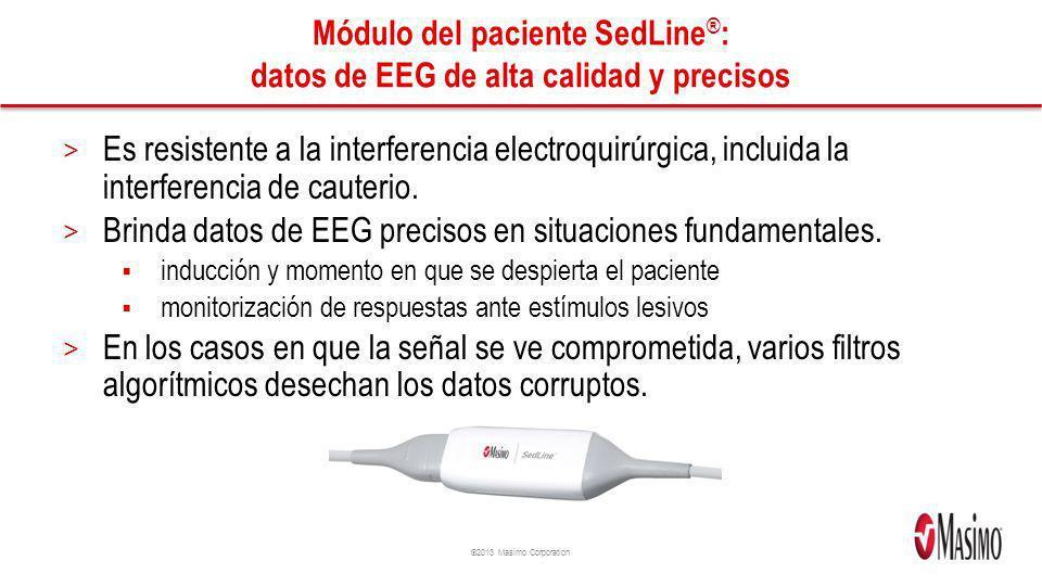 Módulo del paciente SedLine®: datos de EEG de alta calidad y precisos