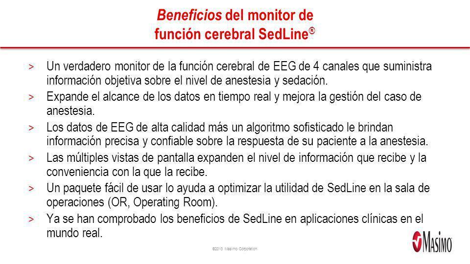 Beneficios del monitor de función cerebral SedLine®