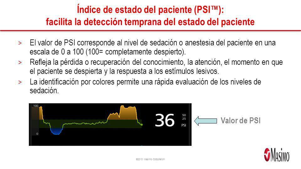 Índice de estado del paciente (PSI™): facilita la detección temprana del estado del paciente