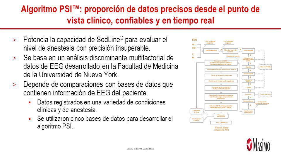 Algoritmo PSI™: proporción de datos precisos desde el punto de vista clínico, confiables y en tiempo real