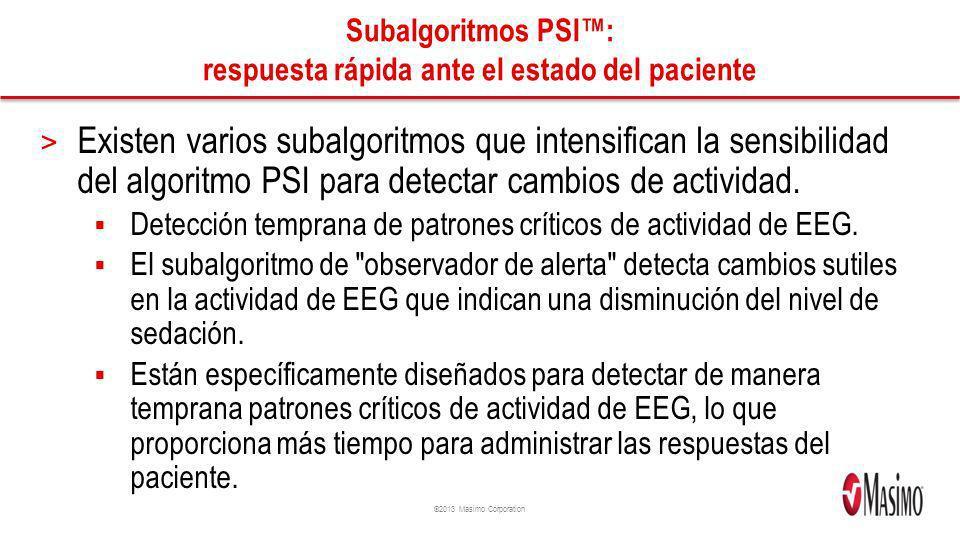Subalgoritmos PSI™: respuesta rápida ante el estado del paciente