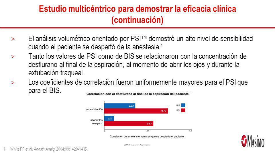 Estudio multicéntrico para demostrar la eficacia clínica (continuación)