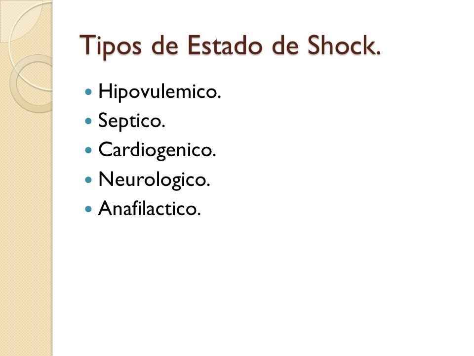Tipos de Estado de Shock.