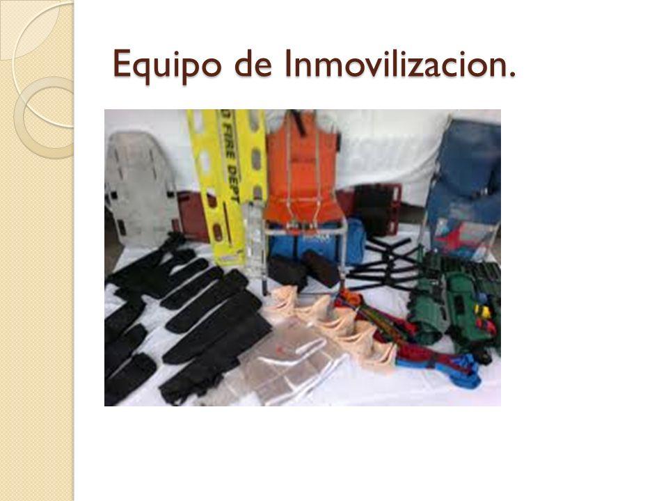 Equipo de Inmovilizacion.