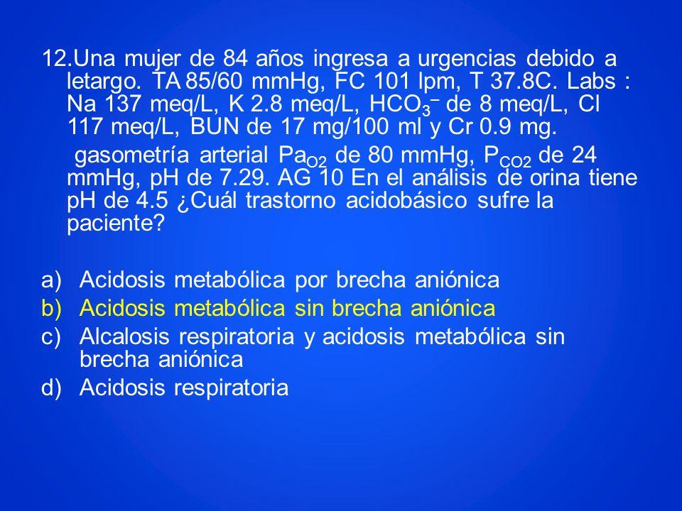 Acidosis metabólica por brecha aniónica