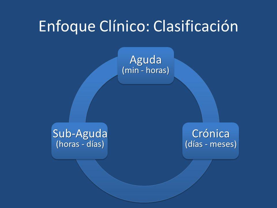 Enfoque Clínico: Clasificación