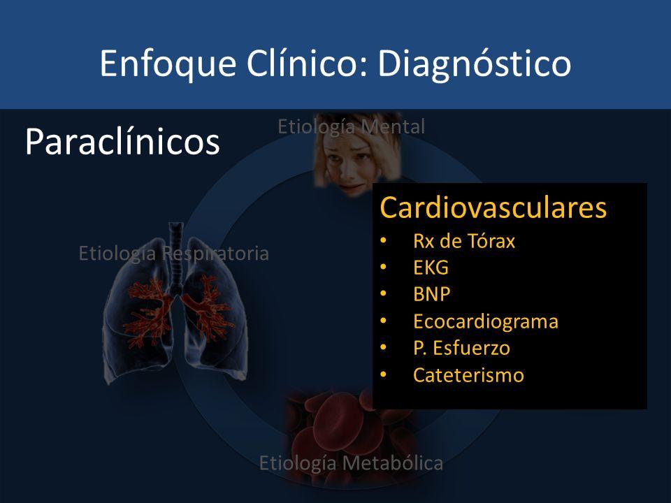 Enfoque Clínico: Diagnóstico