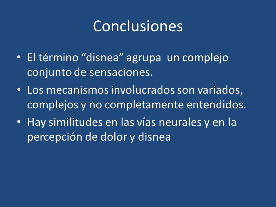Conclusiones El término disnea agrupa un complejo conjunto de sensaciones.