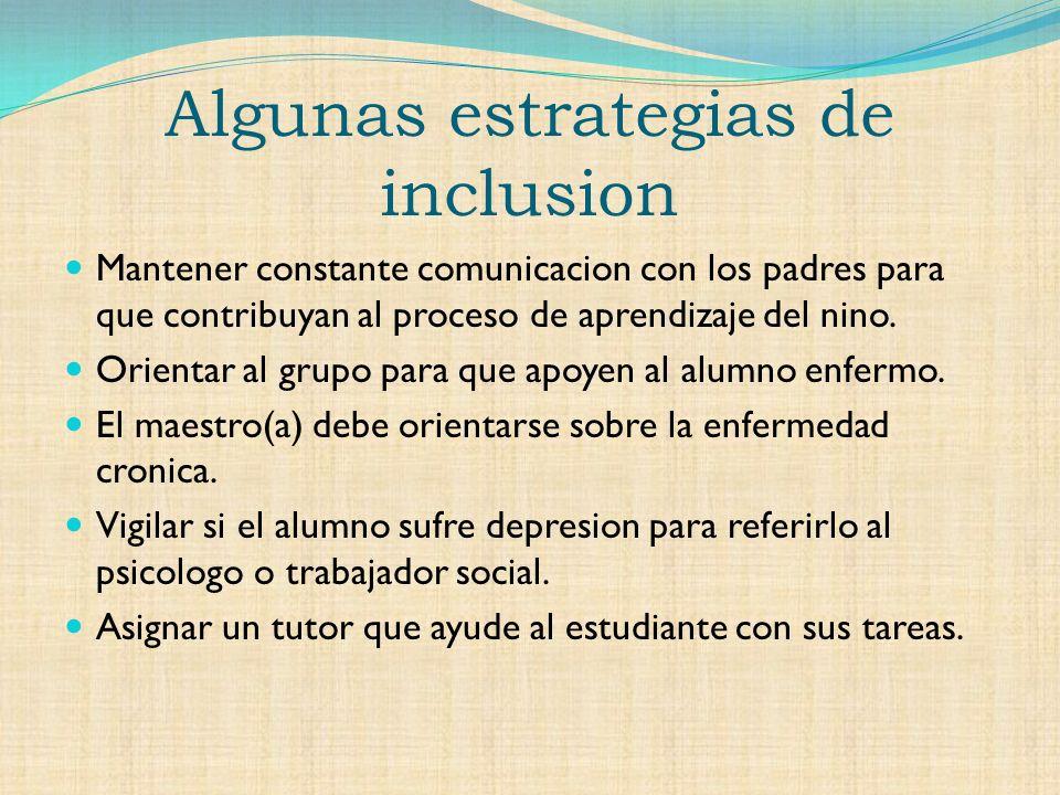 Algunas estrategias de inclusion