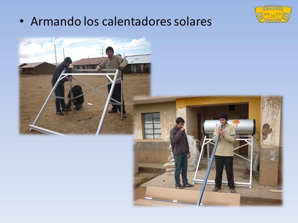 Armando los calentadores solares