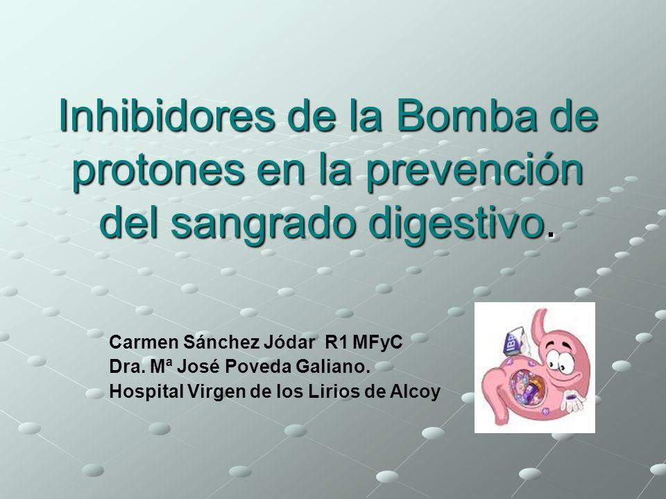 Inhibidores de la Bomba de protones en la prevención del sangrado digestivo.