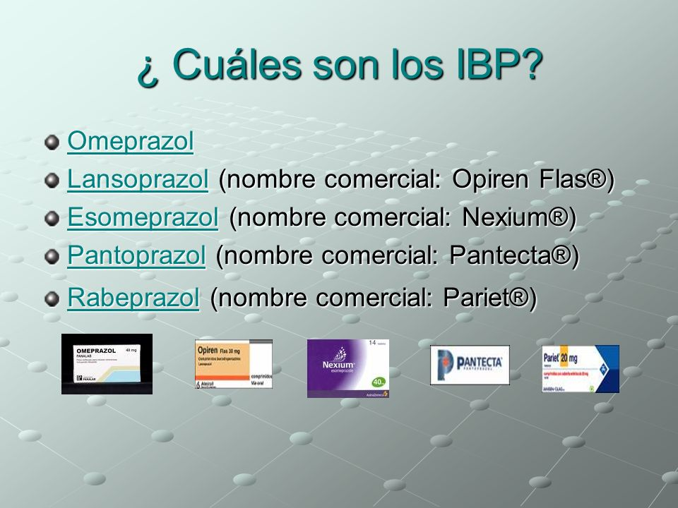 ¿ Cuáles son los IBP Omeprazol
