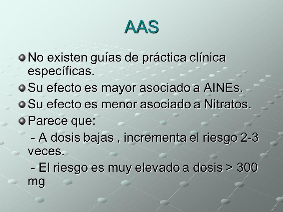 AAS No existen guías de práctica clínica específicas.