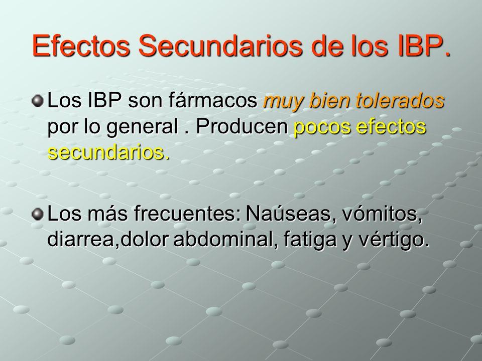 Efectos Secundarios de los IBP.