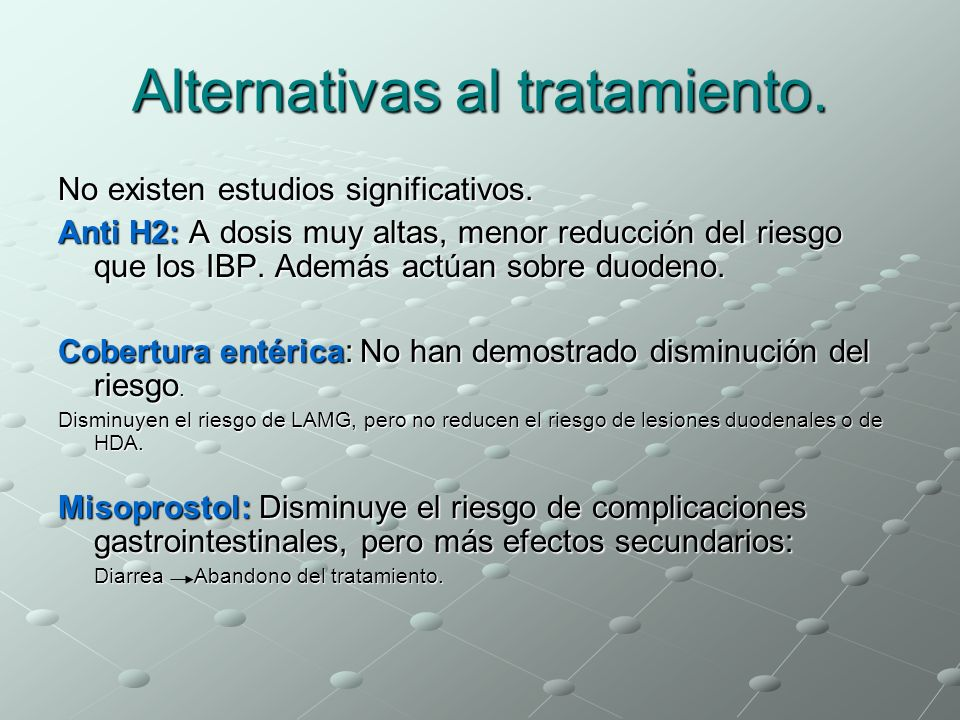 Alternativas al tratamiento.