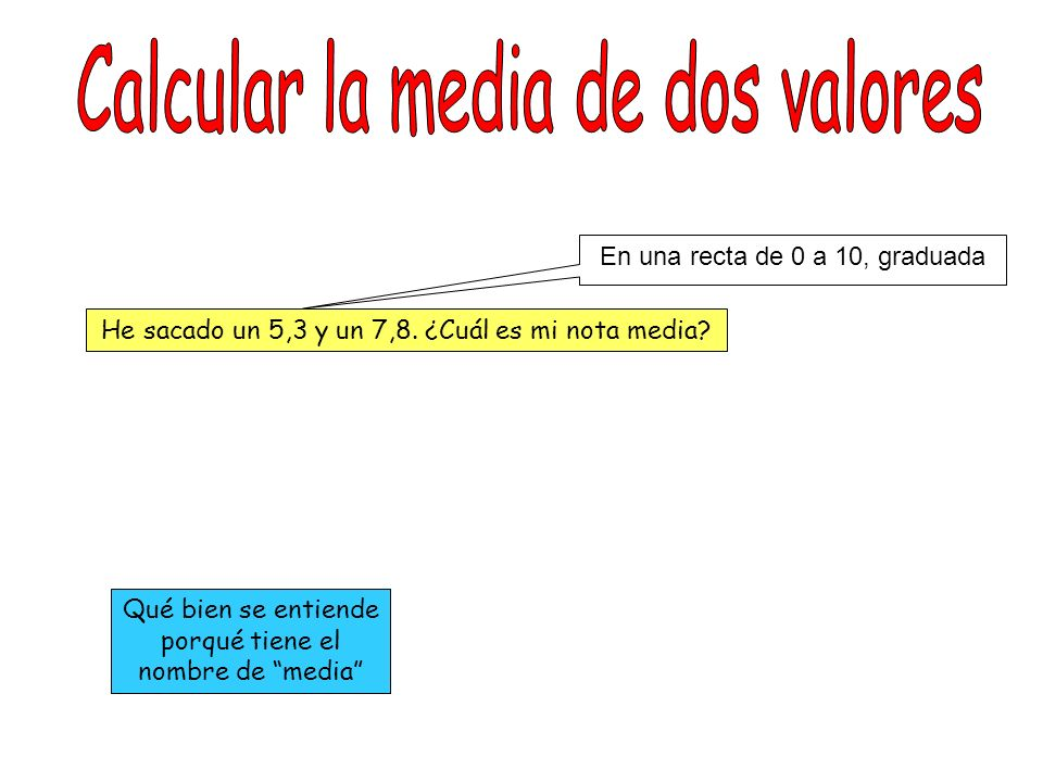 Calcular la media de dos valores