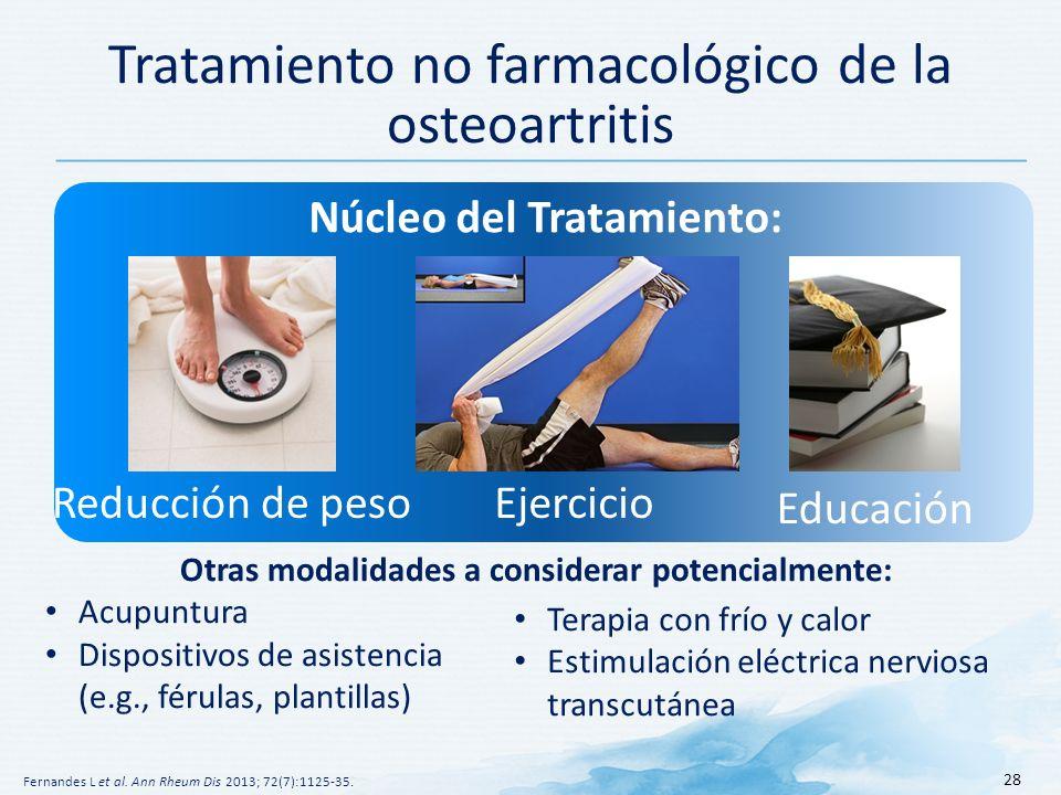 Tratamiento no farmacológico de la osteoartritis