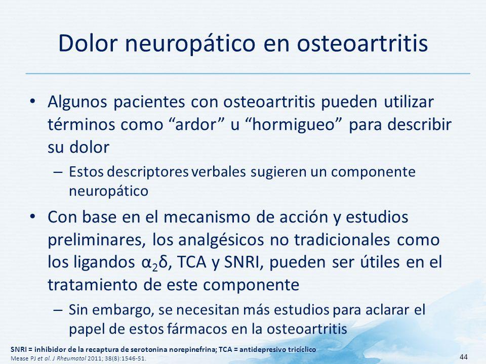 Dolor neuropático en osteoartritis