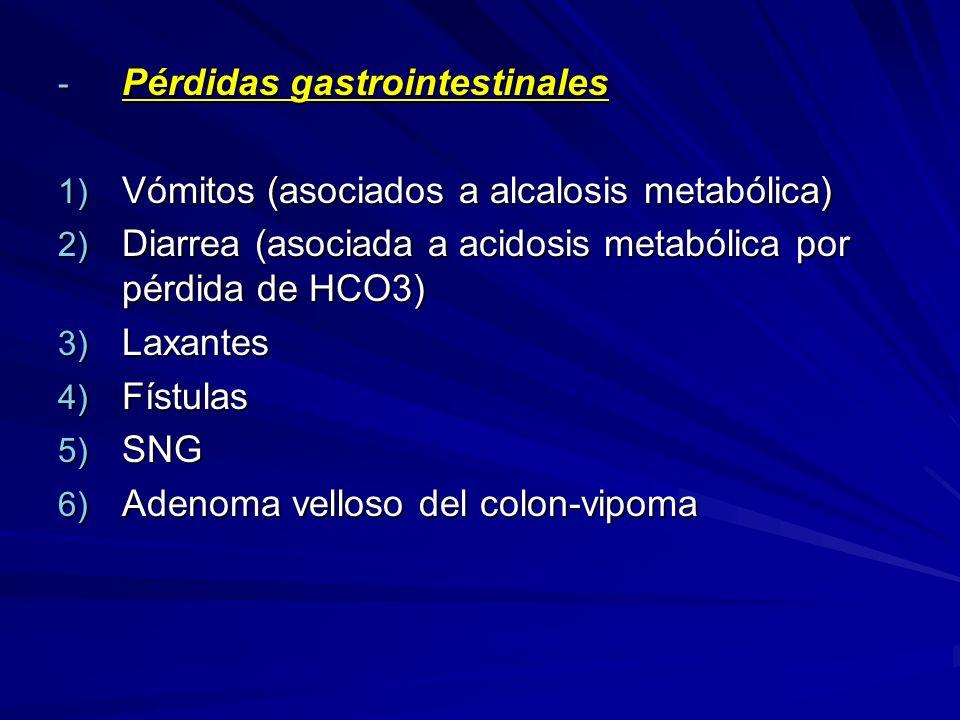 Pérdidas gastrointestinales
