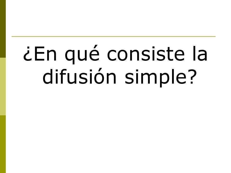 ¿En qué consiste la difusión simple