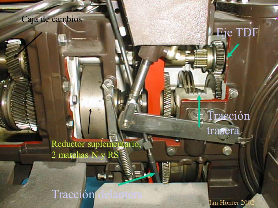 Eje TDF Tracción trasera Tracción delantera Caja de cambios