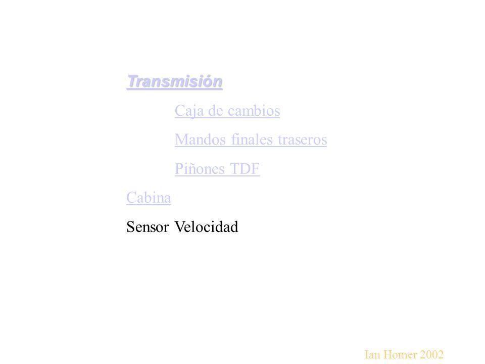 Mandos finales traseros Piñones TDF Cabina Sensor Velocidad