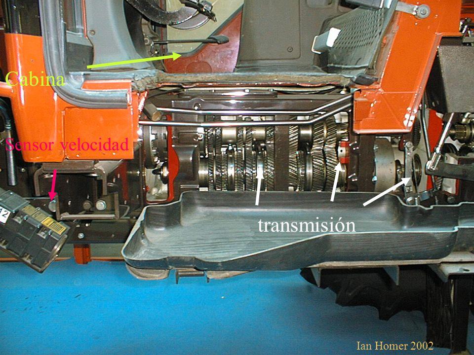 Cabina Sensor velocidad transmisión Ian Homer 2002