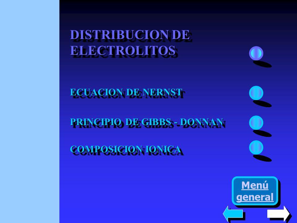DISTRIBUCION DE ELECTROLITOS