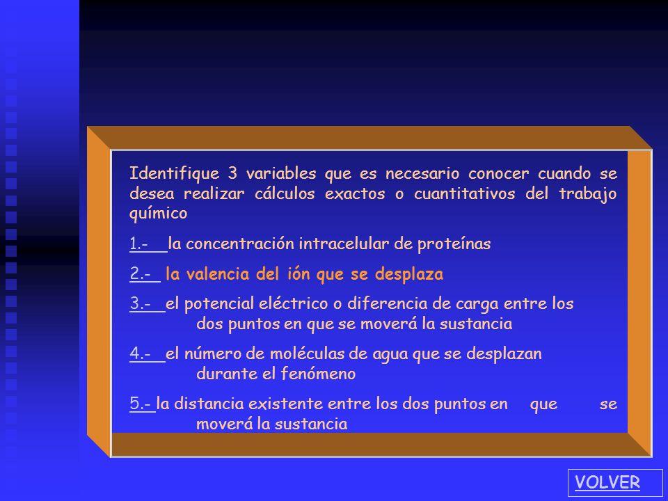 Identifique 3 variables que es necesario conocer cuando se desea realizar cálculos exactos o cuantitativos del trabajo químico
