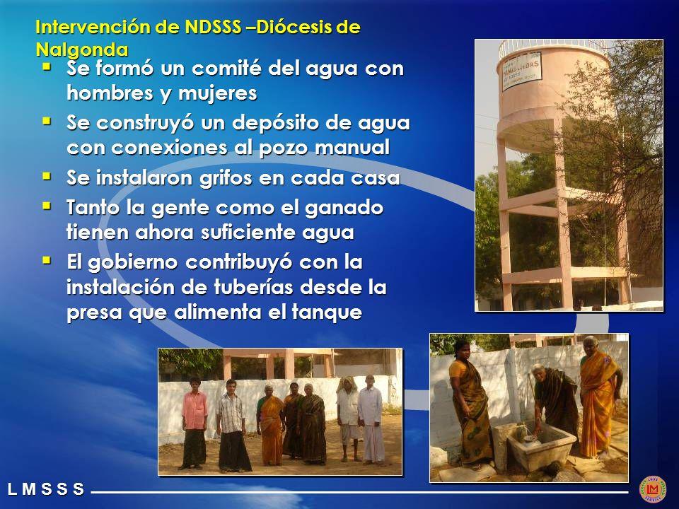 Intervención de NDSSS –Diócesis de Nalgonda