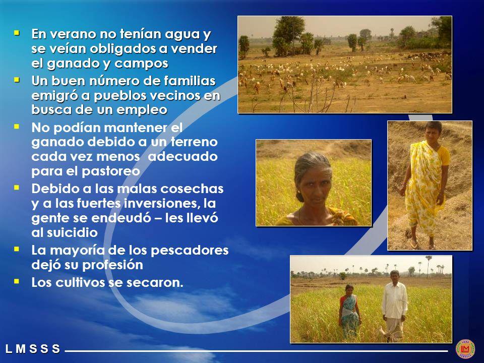 En verano no tenían agua y se veían obligados a vender el ganado y campos