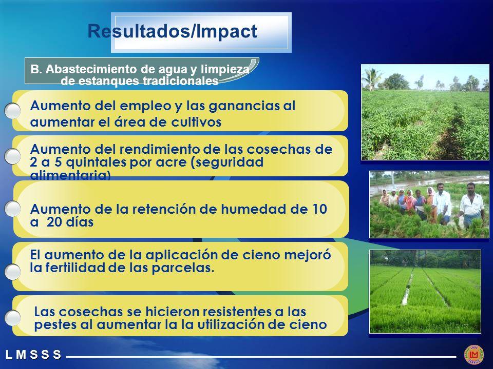 B. Abastecimiento de agua y limpieza de estanques tradicionales