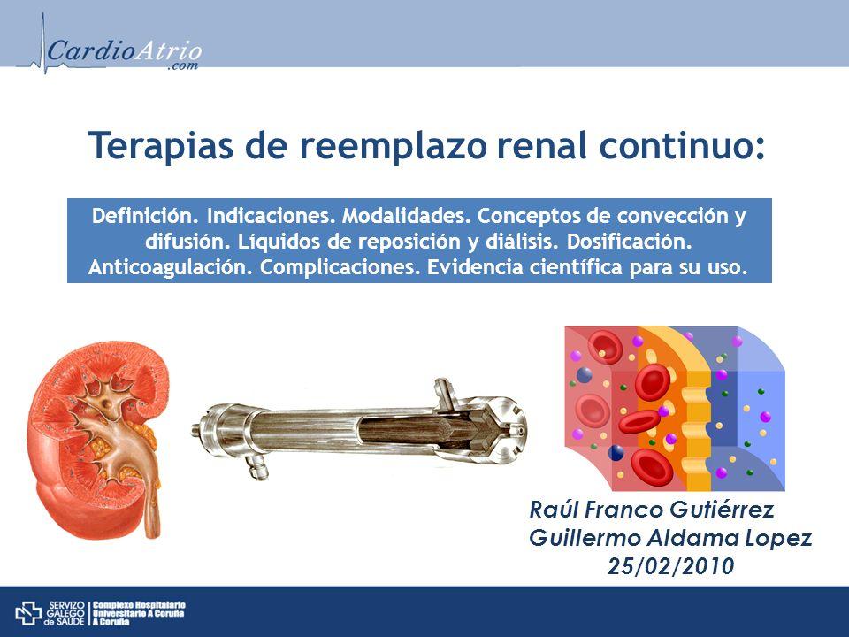 Terapias de reemplazo renal continuo:
