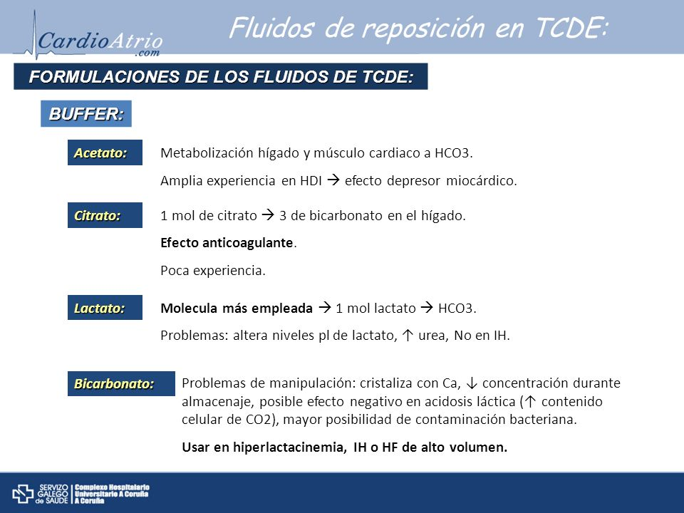 FORMULACIONES DE LOS FLUIDOS DE TCDE:
