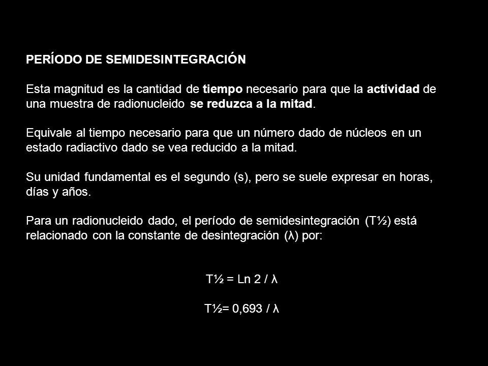 PERÍODO DE SEMIDESINTEGRACIÓN
