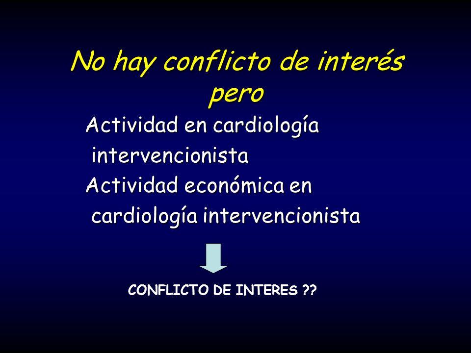 No hay conflicto de interés pero