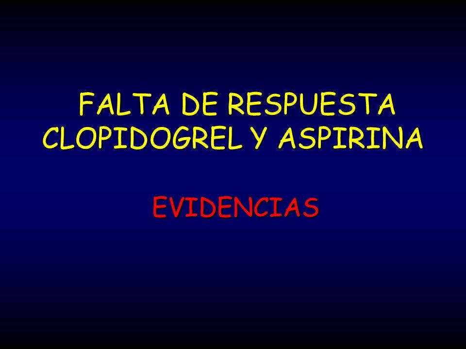 FALTA DE RESPUESTA CLOPIDOGREL Y ASPIRINA