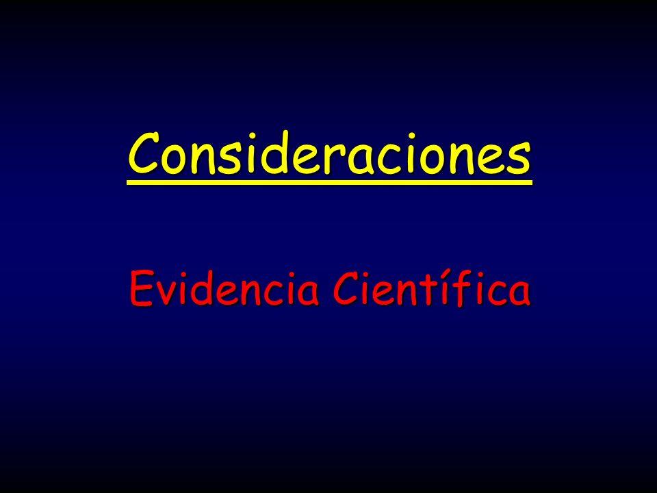 Consideraciones Evidencia Científica