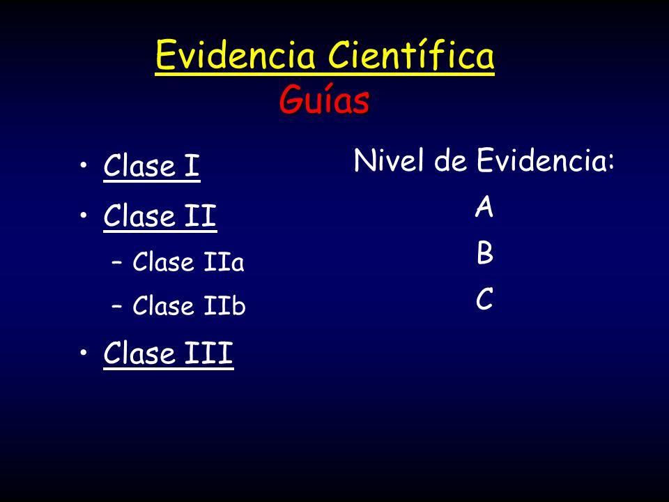 Evidencia Científica Guías
