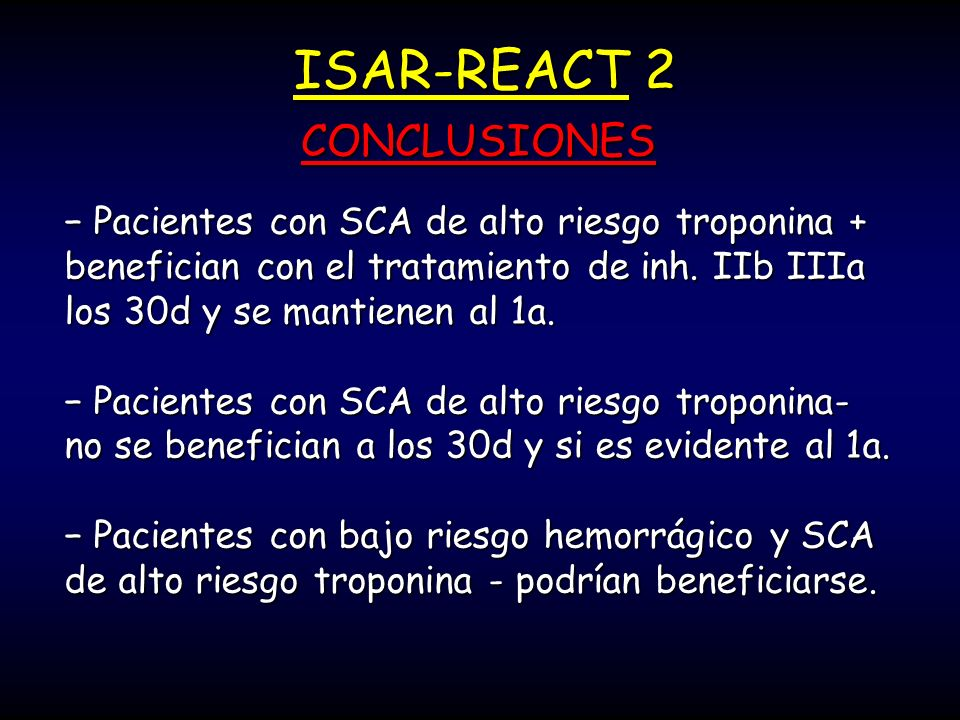 ISAR-REACT 2 CONCLUSIONES