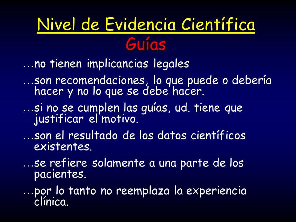 Nivel de Evidencia Científica Guías