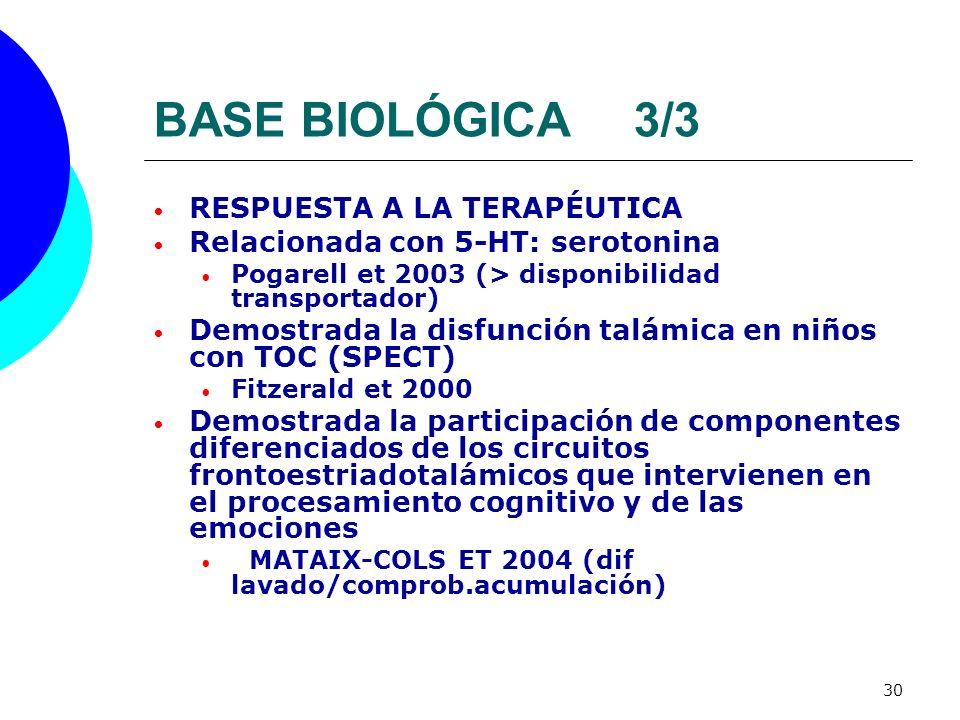 BASE BIOLÓGICA 3/3 RESPUESTA A LA TERAPÉUTICA