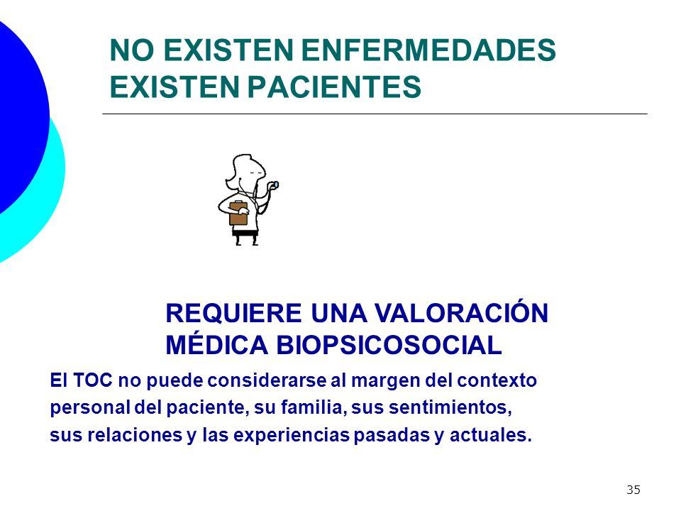 NO EXISTEN ENFERMEDADES EXISTEN PACIENTES