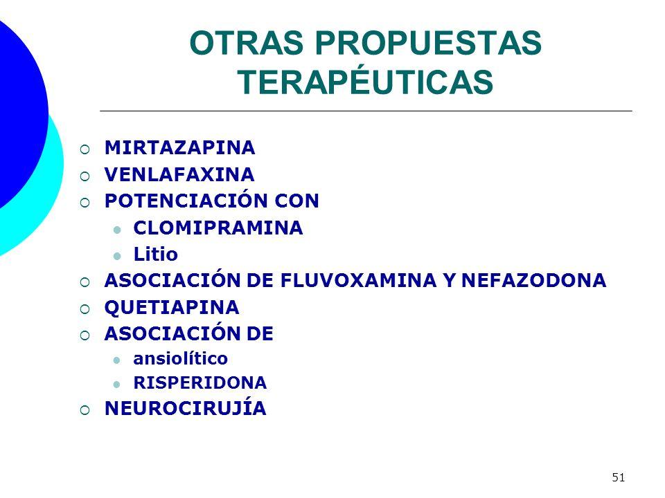 OTRAS PROPUESTAS TERAPÉUTICAS